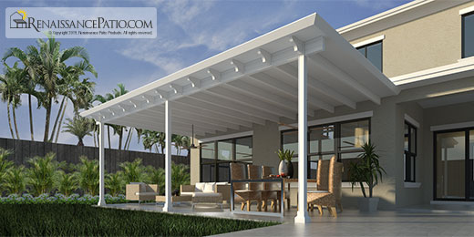 Pergola-Framing-with-White-Aluminum-Patio-Cover-and-Roof-West-Palm-Beach-FL