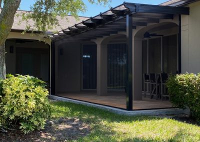 Fresco Translucent Patio Cover with Dolce Screen Walls
