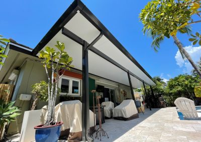 Renaissance Patio Moderno Insulated Aluminum Patio Cover Bronze with White Roof