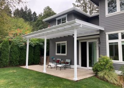 White Fresco Patio Cover by Renaissance Patio Products