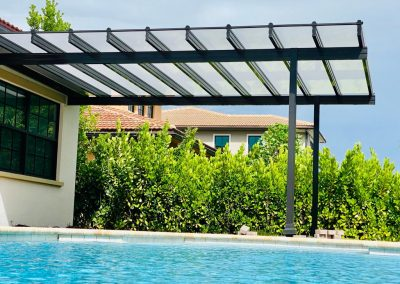 Pergola with clear roof
